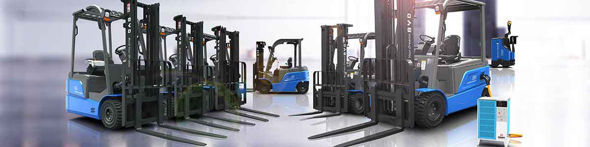 BYD Electric Forklift Lineup