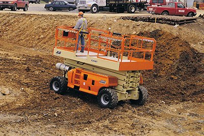 Rough Terrain JLG Scissor Lift