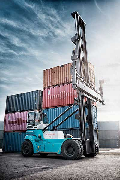 Empty & Loaded Konecranes Container Handler
